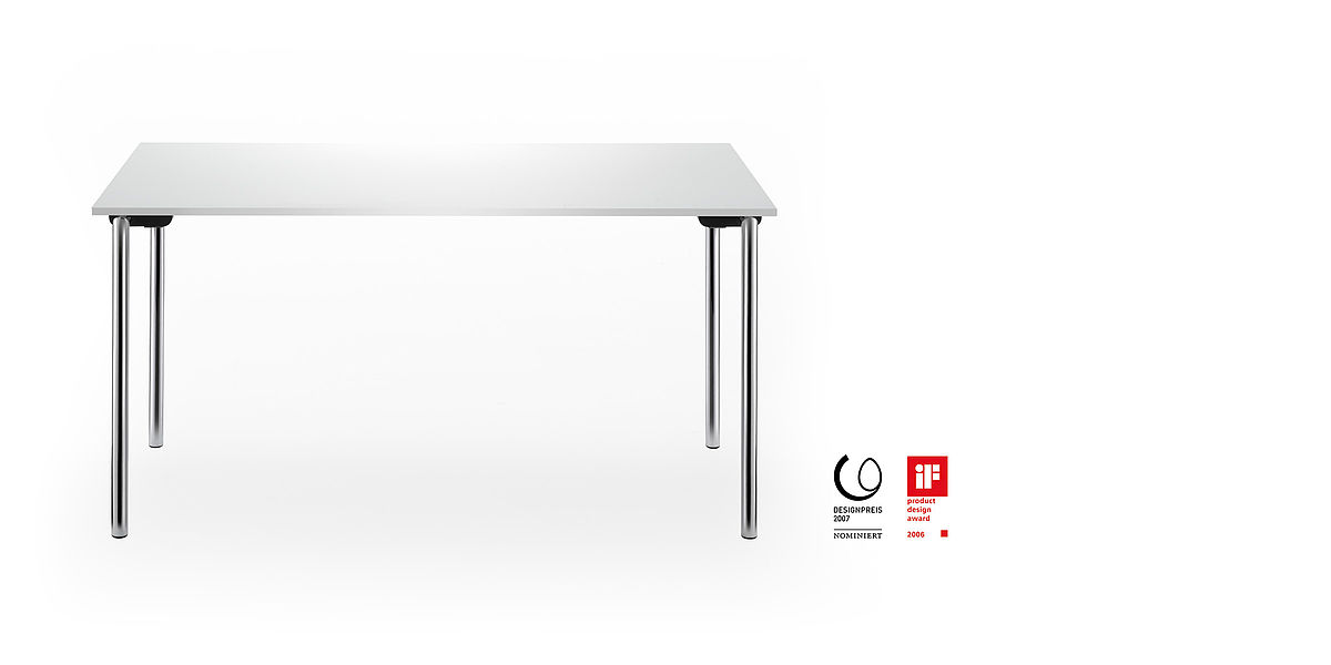 system 24 folding table | chrome-plated frameiss