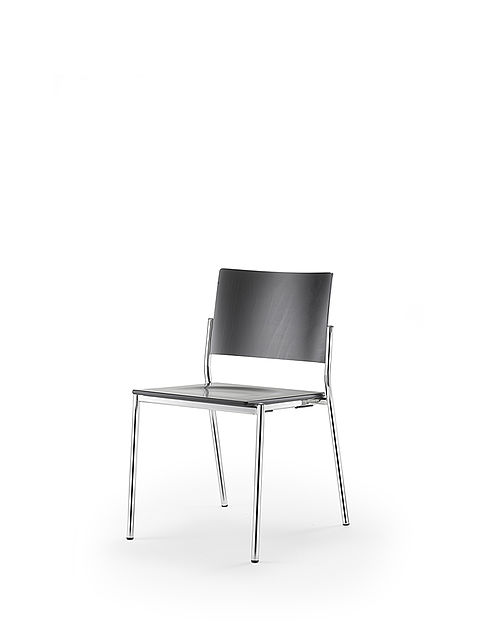 listo | two-piece chair | black stained