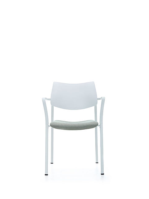 Branka by AKABA | white | upholstered seat