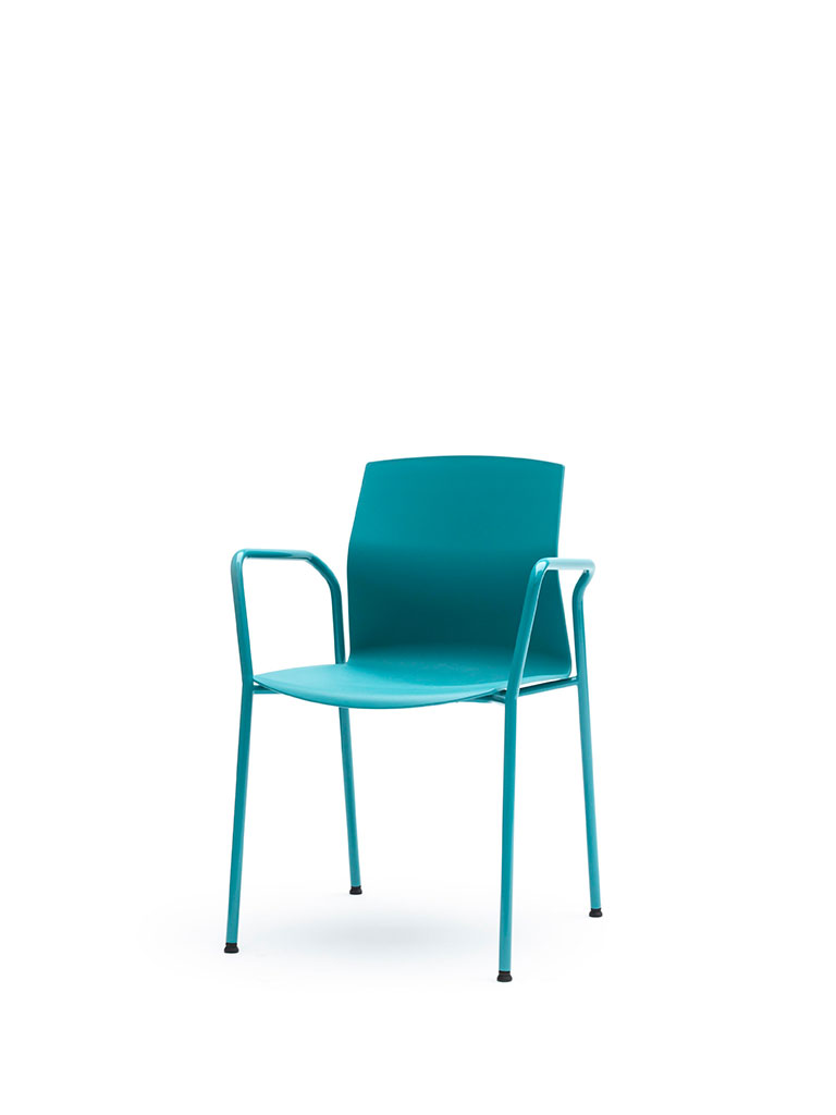 Kabi by AKABA | steel tube frame | turquoise | with armrests