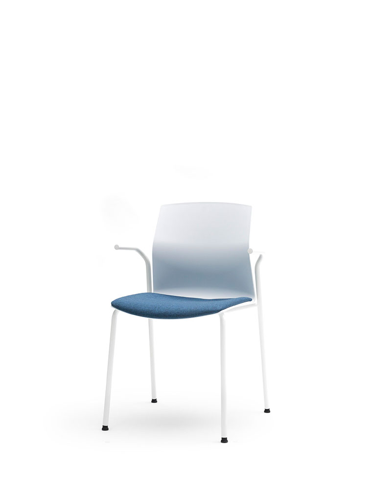 Kabi by AKABA | steel tube frame | white | upholstered seat