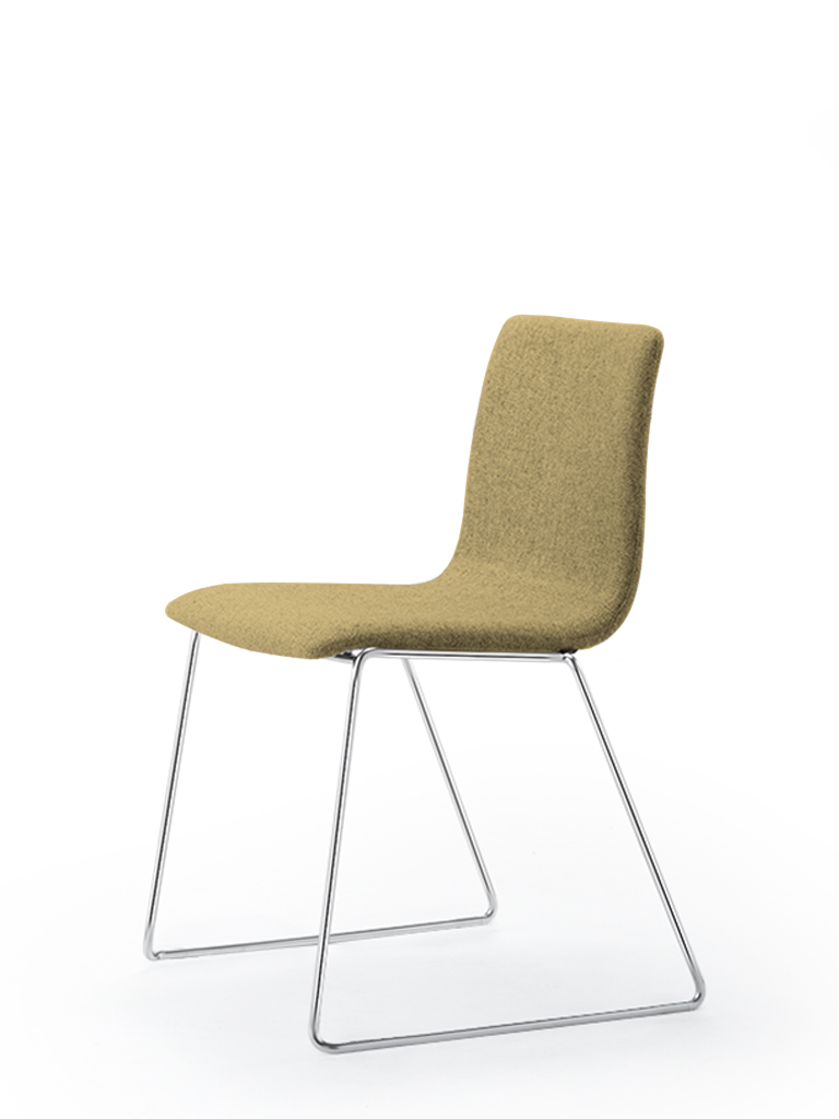 Eless s172 | skid-base chair | yellow upholstery