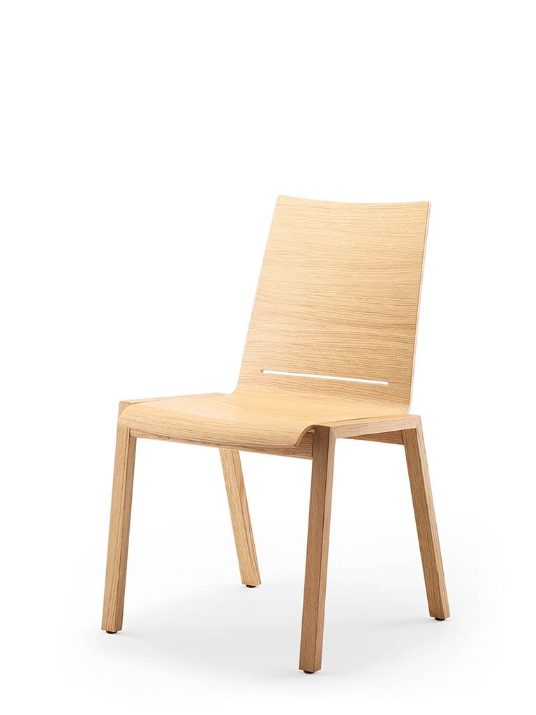 PAN | four-legged chair | upholstered seat | with comfort slot