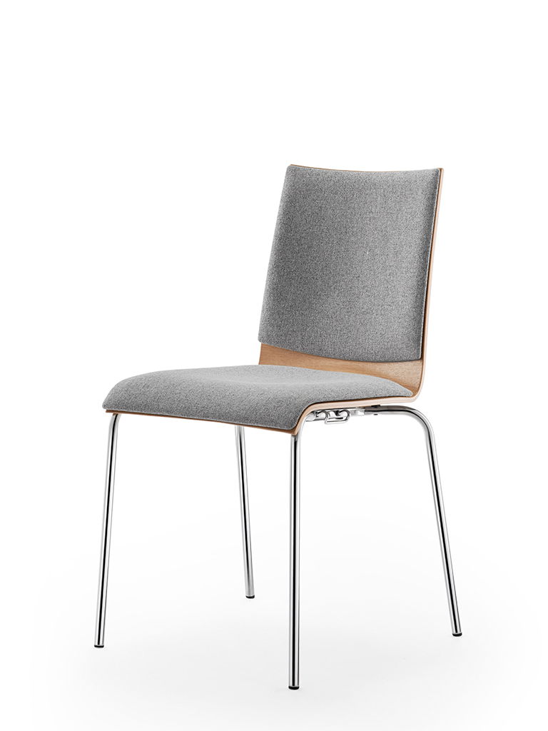 aticon | upholstered seat and back | oak