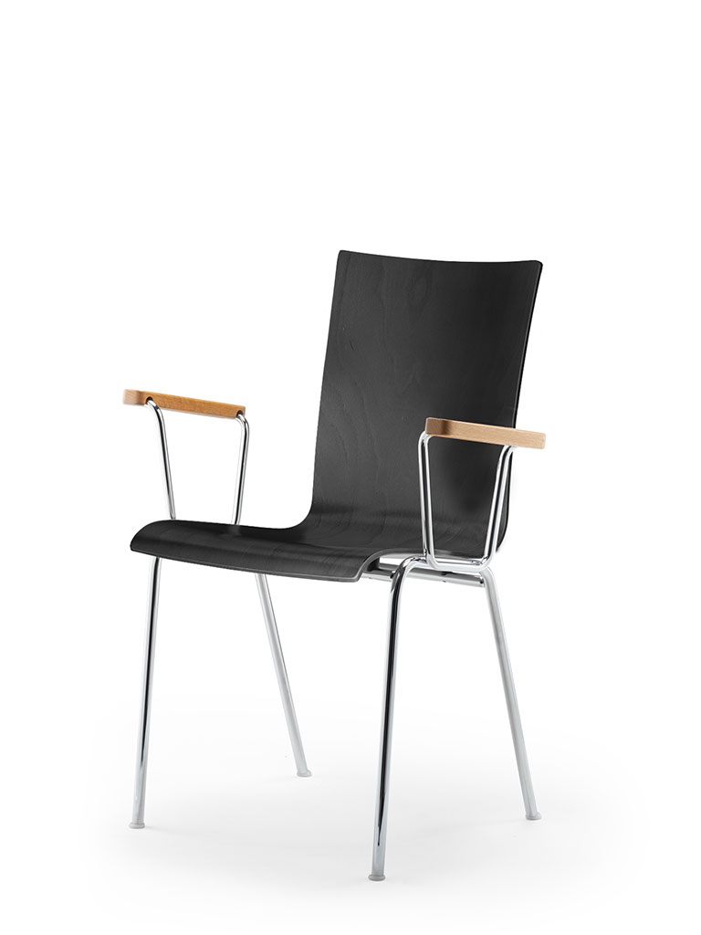 atlanta 50 | steel tube chair | four-legged chair | shell 40 | with armrests | not upholstered