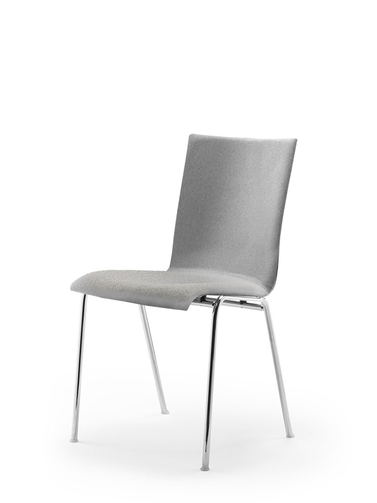 atlanta 50 | steel tube chair | four-legged chair | shell 40 | fully upholstered