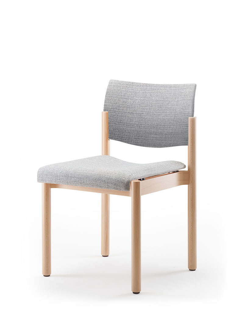 elena | wooden chair | upholstered seat and backrest