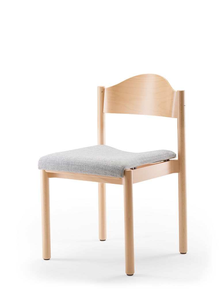 elena | wooden chair | upholstered seat