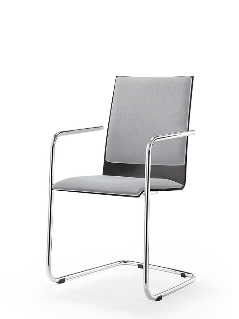 logochair swing | cantilever chair | upholstered seat and backrest