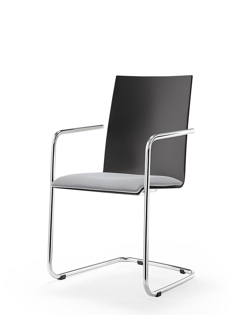logochair swing | cantilever chair | upholstered seat