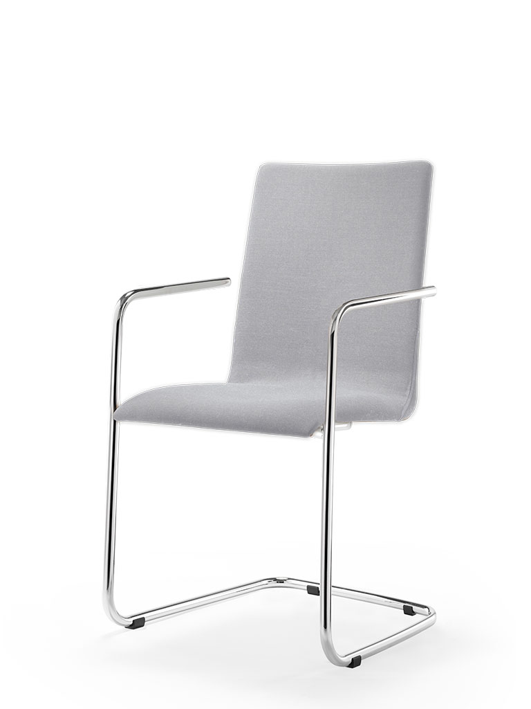 logochair swing | cantilever chair | fully upholstered