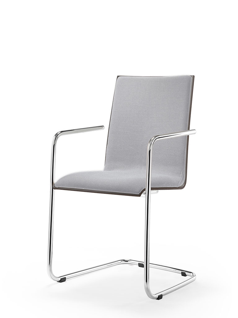 logochair swing | cantilever chair | fully upholstered front