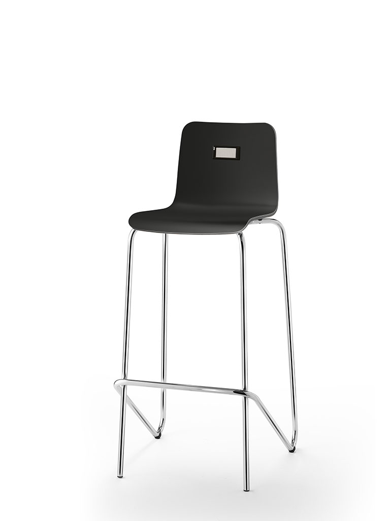 no.e | digital information and numbering system | integrated in barstool logochair
